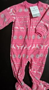 Carter's size 6 month nwt footed fleece pajamas